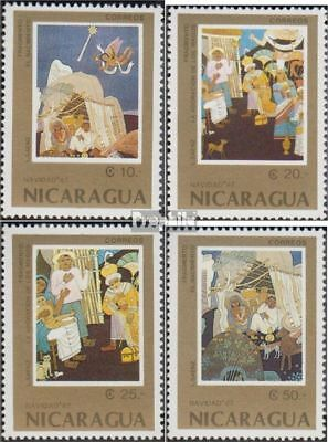 Nicaragua 2839-2842 (complete issue) used 1987 christmas: Paint