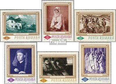 Romania 2519-2524 (complete issue) unmounted mint / never hinged 1966 Paintings