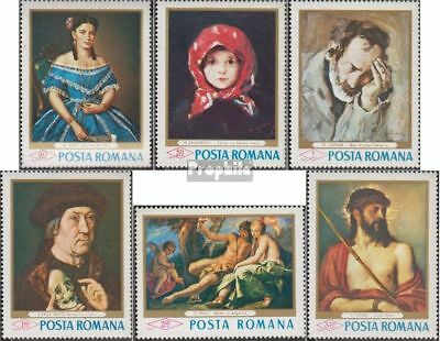 Romania 2666-2671 (complete issue) unmounted mint / never hinged 1968 Paintings