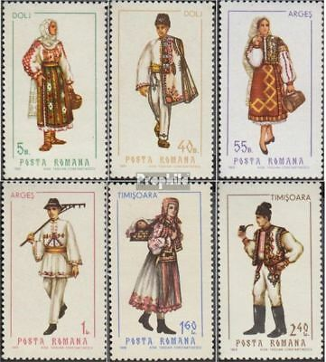 Romania 2739-2744 (complete issue) unmounted mint / never hinged 1969 Costumes