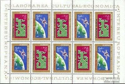 Romania 3189-3190 Sheetlet (complete issue) unmounted mint / never hinged 1974 I