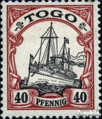 Togo (German. Colony) 13 with hinge 1900 Ship Imperial Yacht Hohenzollern