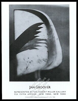 1984 Jan Groover photo NYC art gallery vintage print ad