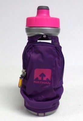 Nathan QuickDraw Plus Handheld Water drink Bottle  Purple NEW TAGS