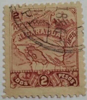 Nicaragua 2 Centavos   Used Stamp.. ..worldwide Stamps