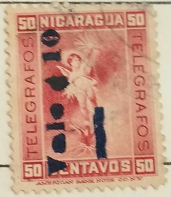 Nicaragua 50 Centavos   Used Stamp.. ..worldwide Stamps