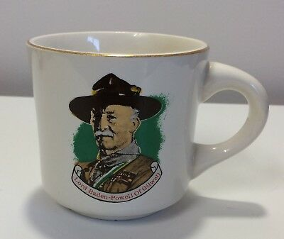 Boy Scouts Coffee Cup Mug Lord Baden Powell of Gilwell