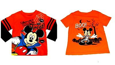 Boys' Toddler Halloween Shirts Mickey Mouse Vampire Trick Or Treat NWT