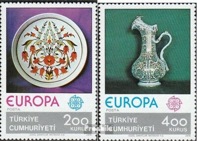 Turkey 2385-2386 (complete issue) unmounted mint / never hinged 1976 Europe: Cra