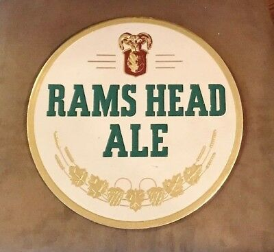 Rare Rams Head Ale Advertising Beer Sign Adam Scheidt Brewing Co Norristown Pa