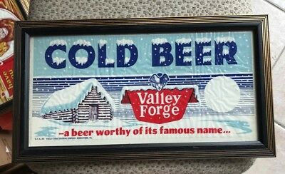 Vintage Valley Forge Beer Advertising Sign Adam Scheidt Brewing Norristown Pa