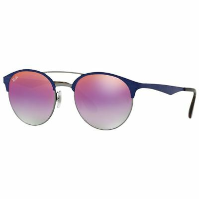 cc66c73595c Ray-Ban RB3545 9005A9 Round Violet Gradient Mirror Lens Double Bridge  Sunglasses