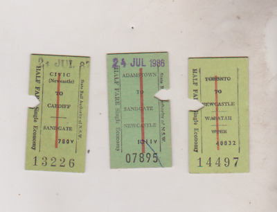 SRA of NSW Newcastle & Hunter Line rail tickets
