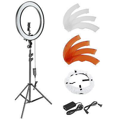 "Photo Studio 18-inch Outer Dimmable SMD LED Ring Light with 78.7"" Stand"