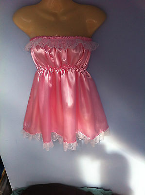 black satin dress  adult baby fancy dress sissy french maid cosplay fits 36-52