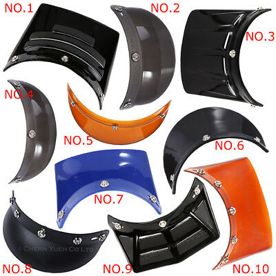Motorcycle Helmet Visor Duckbill Sunshield for 3 & 5-Snap Open Helmet Color OPT