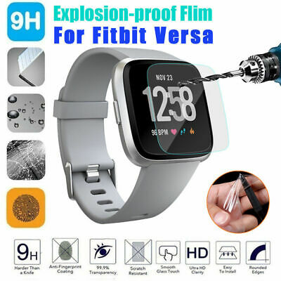 [6-Pack] Fitbit Versa Smart Watch HD Tempered Glass Screen Protector Film 0.3mm