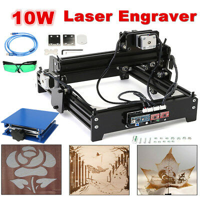 10W Laser Engraver Engraving Machine CNC USB Desktop Metal Stone Printer Cutter