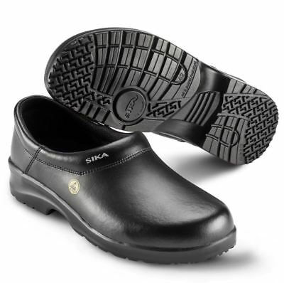 Sika Safety Shoe 19466 Fusion ESD Closed Clog Black Sz. 40