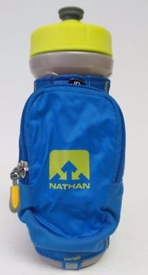Nathan QuickDraw Plus Handheld Water drink Bottle blue  NEW TAGS