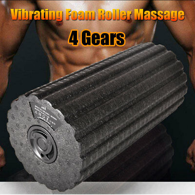 AU Electric Yoga Gym Fitness Vibrating Foam Roller Body Muscle Massager Sports
