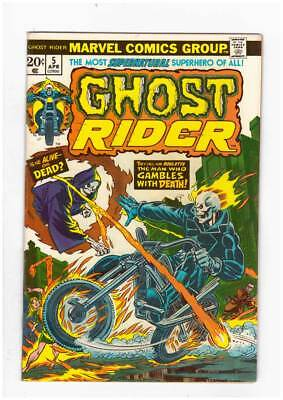 Ghost Rider # 5  The Man who Gambles with Death ! grade 6.5 scarce book !!