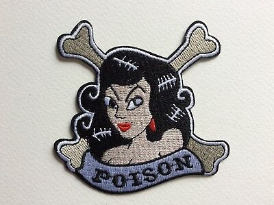 D442 // Ecusson Patch Aufnaher Toppa / Neuf / Pin Up Poison 9*9 Cm
