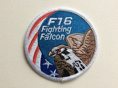 D433 // Ecusson Patch Aufnaher Toppa / Neuf / F16 Fighting Falcon 8 Cm