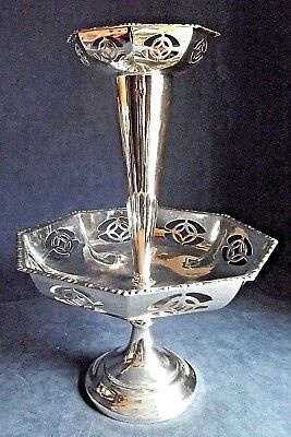 "SUPERB Large 15"" ~ ART DECO ~ SILVER Plated ~ Cake STAND / EPERGNE ~ c1935"