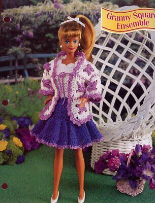 Victorian Ensemble Outfit fits Barbie NEW Vanna Crochet Pattern Leaflet