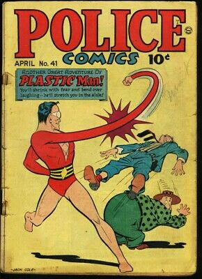 Police Comics #41-Plastic Man-The Spirit-1945 G/vg