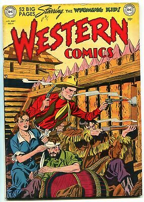 Western Comics #14 1950-DC COMICS NIGHTHAWK WYOMING KID FN