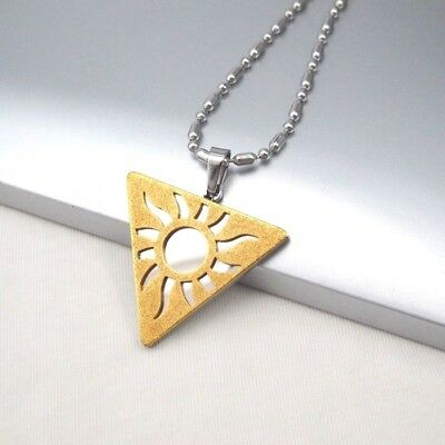 "Silver Gold Triquetra Pendant 24"" 61CM Mens Chain Egyptian Jewelry Necklace NEW"