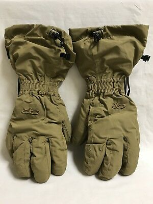 Outdoor Research Firebrand Gloves W/ Liners, Goretex, Coyote, X-Large, Nwot