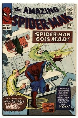 AMAZING SPIDER-MAN #24-SILVER AGE MARVEL-VULTURE-DITKO HIGH GRADE vf