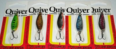 10 X Rare Luhr Jensen Quiver Casting Spoons In 4 Colours, Trout, Bass