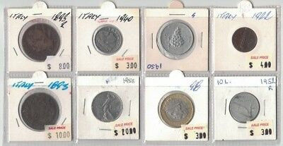 1893 to 1958 Italy 8 coins in clearance