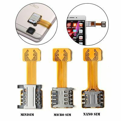 Hybrid Double Dual SIM Card Micro SD Adapter for Android Phone Extender Micro