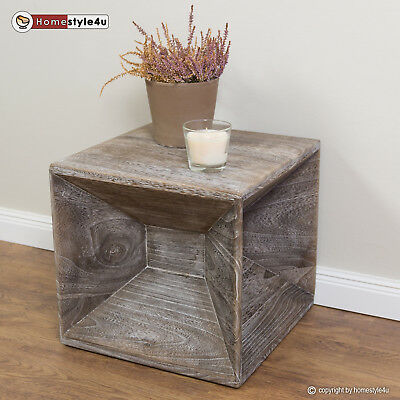 Stool wood cube side table nightstand grey cube coffee table storage