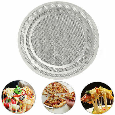1X Fresh 6-14 In Seamless Aluminum Round Pizza Screen Mesh Oven Baking Tray New