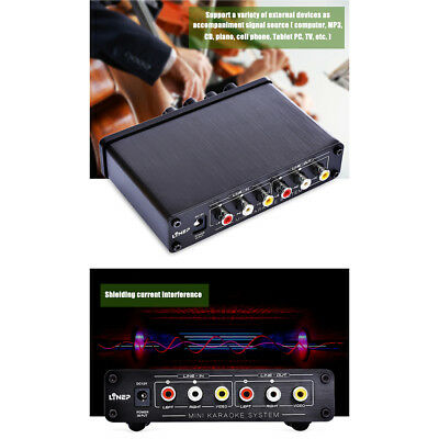 Home Karaoke System Amplifier 12V Mini Music Mixer Stereo Sound Console New