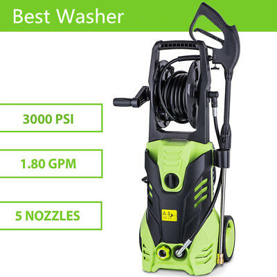 3000Psi 1.8 Gpm Electric Pressure Power Washer Hose Detergent Tank Cleaner Cheap
