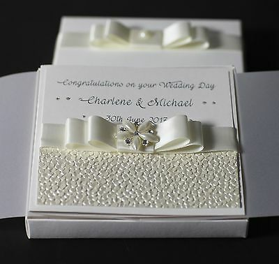 Personalised Boxed Wedding/Engagement Card.....Daughter,Son,Niece,Nephew