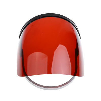 Clear Red Flip Up Face Shield Screen Safety Mask Face Protection Workwear