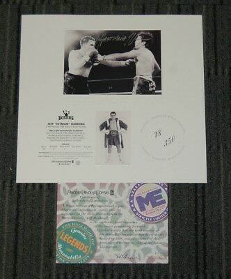 Jeff Harding Hand Signed Limited Edition Boxing Print Tyson Ali Mayweather Horn