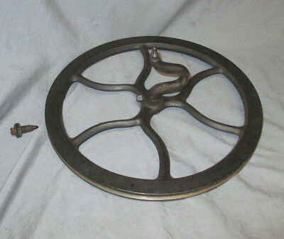 "Antique Singer Treadle Sewing Machine 12.5"" Cast Iron Flywheel 1890s 1908 15 27"