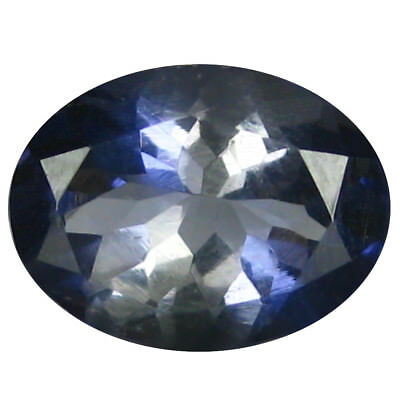 1.29 ct AAA Dazzling Oval Shape (9 x 7 mm) Iolite Natural Loose Gemstone
