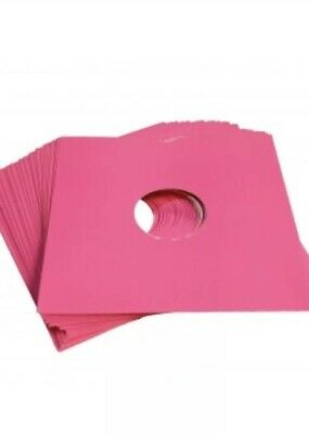 """50 X 7"""" Pink Card Record Masterbags Sleeves / Covers *New*"""