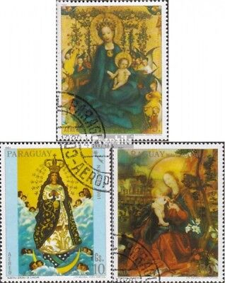 Paraguay 3474-3476 fine used / cancelled 1981 christmas