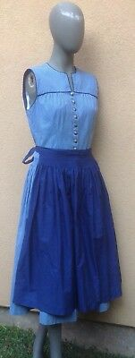 Authentic Vintage DIRNDL SZ 6 / 8 Oktoberfest Dress Germany 100% Cotton w Apron